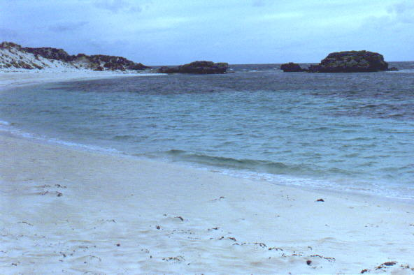 empty nude beach on Rottnest Island